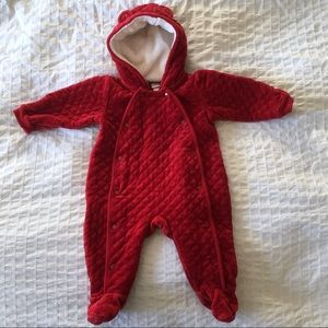 🚛Moving sale🚛 Nordstrom red velour baby bunting